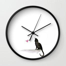 I Love Cats No.4 by Kathy Morton Stanion Wall Clock