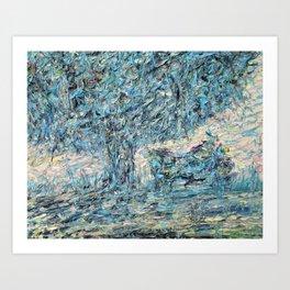 TREE and BIKE Art Print