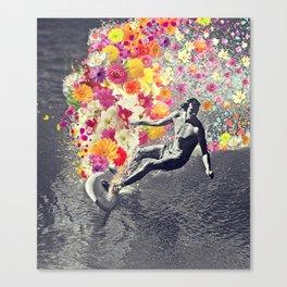 Flower surfing Canvas Print