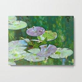 Monet's Water Garden Metal Print