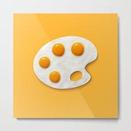 Eggs palette Metal Print