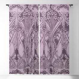 Lavender,art nouveau,vintage,beautiful,floral,belle époque,pattern,elegant, chic,modern,trendy Blackout Curtain