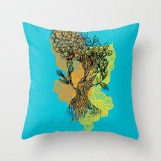 peacock tree Throw Pillow