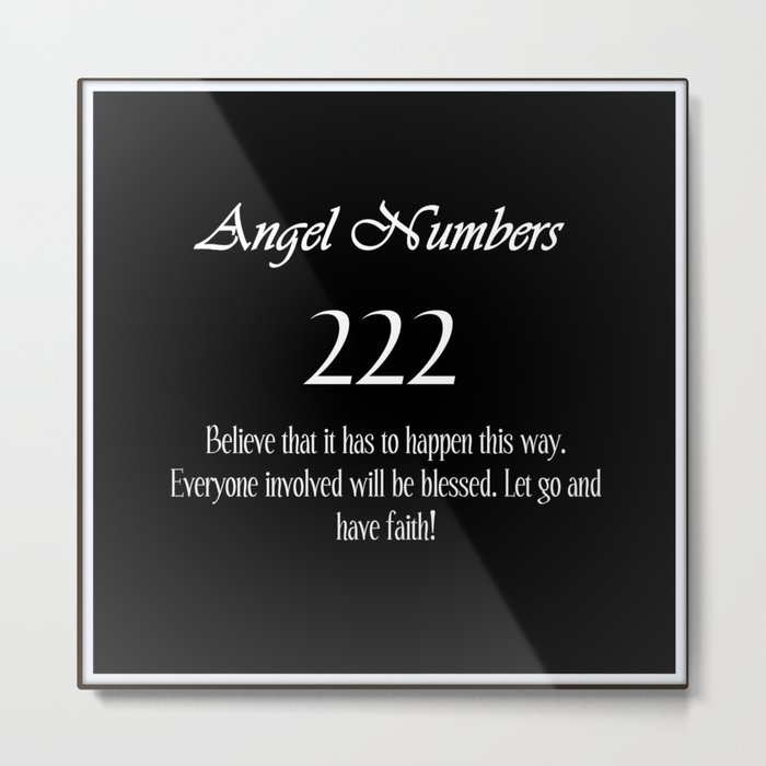 ANGEL Numbers 222 Metal Print