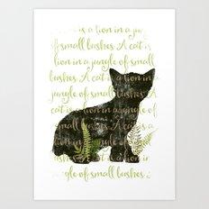 A cat is a lion.... Art Print