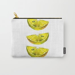 Lemon Slices White Carry-All Pouch