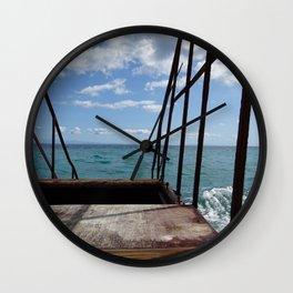 Steps to the Ionian Sea Zakynthos Greece Wall Clock