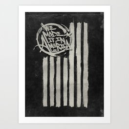We Made it in America (Black) Art Print