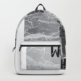 Well Shit Wave Swimmer or Surfer Gift Backpack