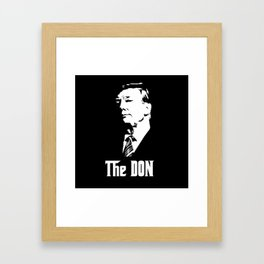 The Don Donald Trump Godfather Parody #society6 #decor #buyart #artprint Framed Art Print