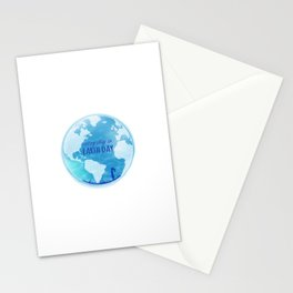 Every Day Is Earth Day - Blue 04 Stationery Cards