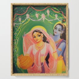 The Divine Couple - Radha and Krishna Serving Tray