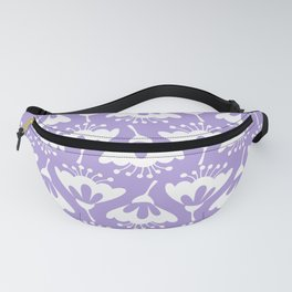 Purple and White Flowers Fanny Pack