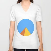 pyramid V-neck T-shirts featuring Pyramid by Nikkita