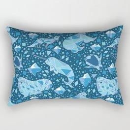 Arctic Geometric Animals Rectangular Pillow
