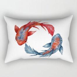 Yin Yang Koi Fish Rectangular Pillow