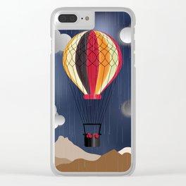 Balloon Aeronautics Rain Clear iPhone Case