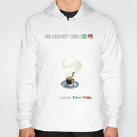 coffe Hoodies featuring Paragliding: take a coffe! I love thermal by Blinding Room Art