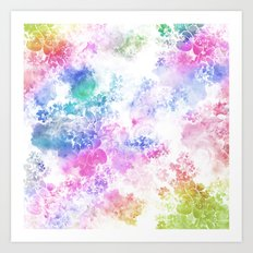 Watercolor Meander Art Print