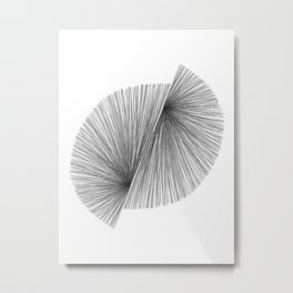 Black and White Mid Century Modern Geometric Abstract Metal Print