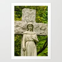 religious Art Prints featuring Religious Statue by Michael Moriarty Photography