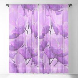 Violet Anemones Spring Atmosphere #decor #society6 #buyart Sheer Curtain