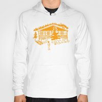cabin Hoodies featuring Family Cabin by Robert Cooper