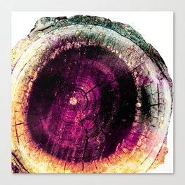 Violet and Gold Geode Canvas Print