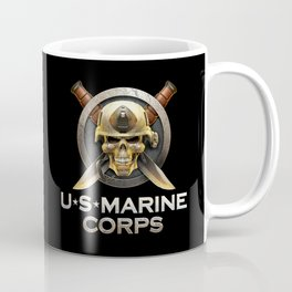 Military badge with marine skull Coffee Mug