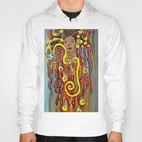 gustav klimt Hoodies featuring Hygeia - An Ode to Klimt  by LadyJennD