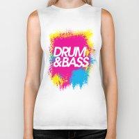 drum Biker Tanks featuring Drum & Bass by DropBass