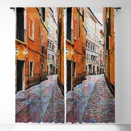 Streets of Rome, Through art and history Blackout Curtain