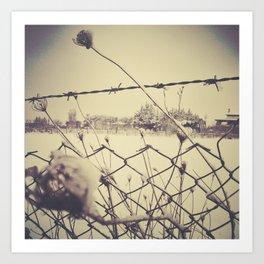 Roma under snow Art Print