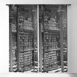 A Book Lover's Dream - Cast-iron Book Alcoves of Leather bound books Old Cincinnati Public Library Blackout Curtain