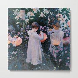 Carnation, Lily, Lily, Rose - John Singer Sargent Metal Print