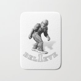 The Hide & Seek Champion I BELIEVE Funny Bigfoot Design Bath Mat