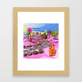 Pink Candyland Framed Art Print