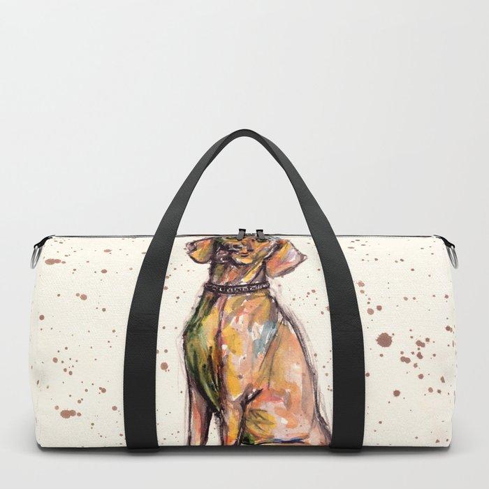 Hungarian Vizsla Dog Closeup Duffle Bag