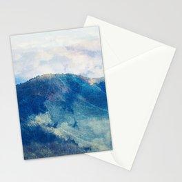 Smokey mountains, vintage blue Stationery Cards