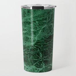 Dark emerald marble texture Travel Mug