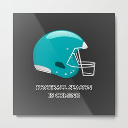 The Football Season Metal Print