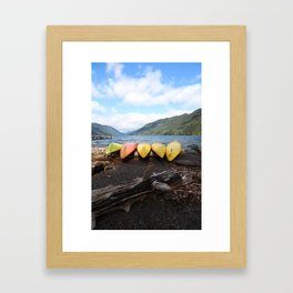 Lake Crescent Washington Framed Art Print