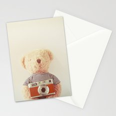 Teddy bear and camera Stationery Cards