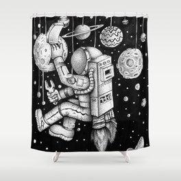 Galaxy Repairman Shower Curtain