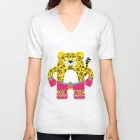 jaguar V-neck T-shirts featuring Jaguar by EinarOux