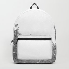 Winterland // Snowy Landscape Photography White Out Winter Pine Tree Artwork Backpack