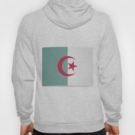 Flag of Algeria. The slit in the paper with shadows. Hoody