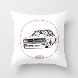 Crazy Car Art 0222 Throw Pillow