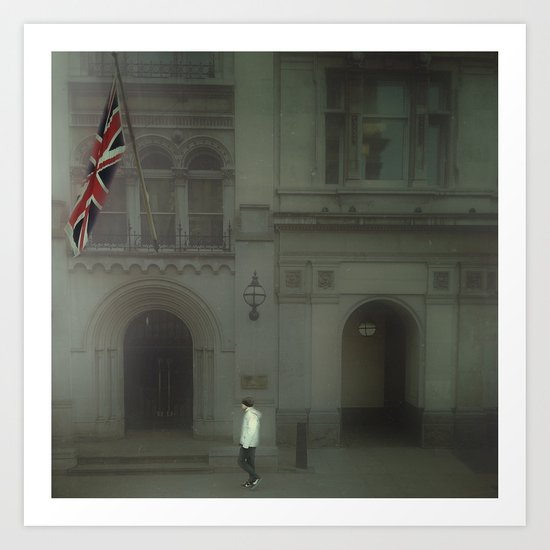 Walking In London. Art Print