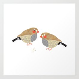 The finches Art Print